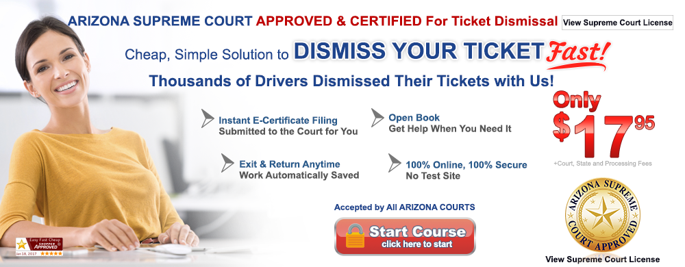 Arizona approved defensive driving online